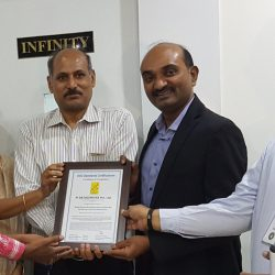 Pi Team receiving HIPAA Certificate