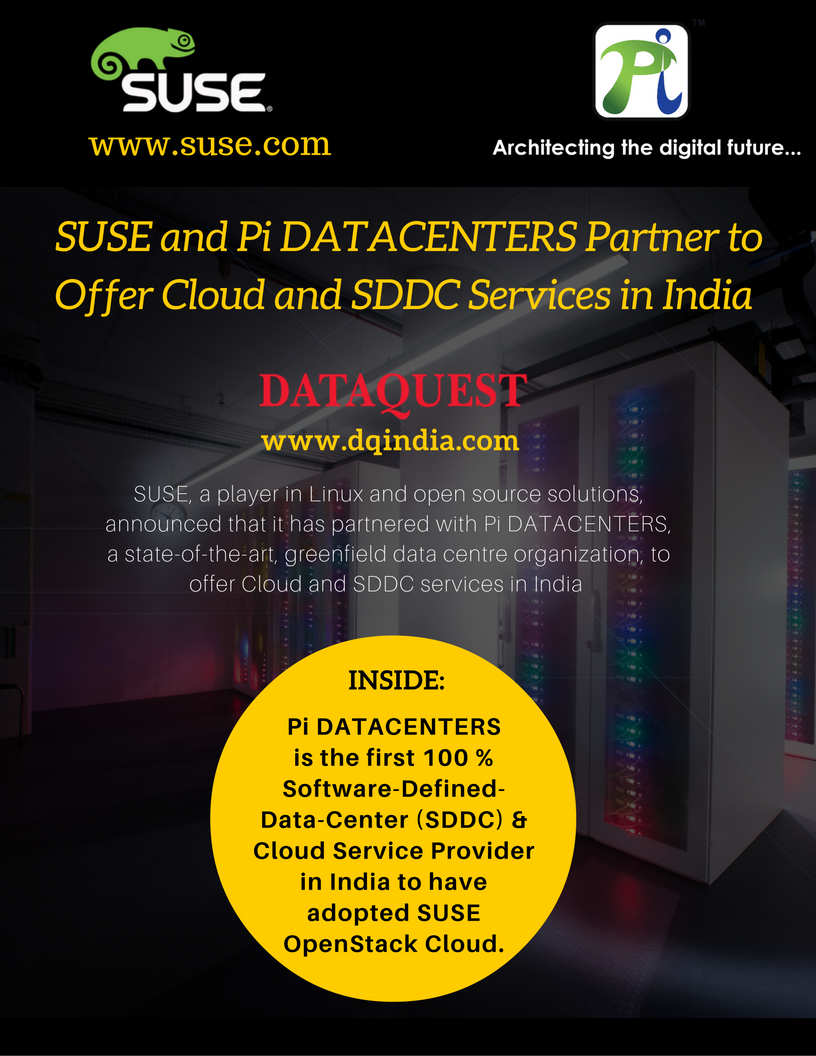 SUSE and Pi DATACENTERS Partner to Offer Cloud and SDDC Services in India