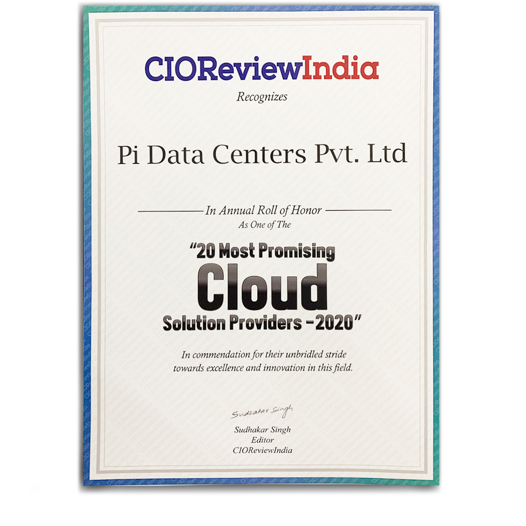 Certifications - Pi DATACENTERS